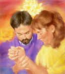 Man and Woman Praying Together