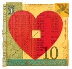 Heart With Numbers and Money