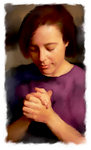 Young Woman Prays