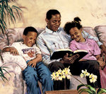 A Dad Reads the Bible With His Kids