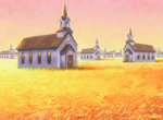 Churches in Wheat Field