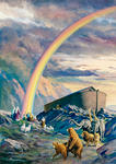 Rainbow over Noah's Ark