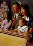 Asian Family at Church
