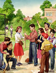 Baseball Picture- Choosing Sides