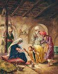 Wise Men Worship the Child, Presenting Him with Gifts