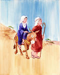 Mary and Joseph Travel