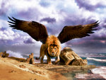 Daniel 7 Prophetic Lion With Babylonian Ruins
