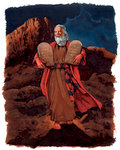 Moses on Mout Sinai